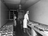 Making Pork Pies, Schonhuts Butchery Factory, Rawmarsh, South Yorkshire, 1955 Photographic Print by Michael Walters