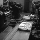 Type Being Set at the White Rose Press, Mexborough, South Yorkshire, 1968 Photographic Print by Michael Walters