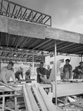 Carpenters on a Building Site, Gainsborough, Lincolnshire, 1960 Photographic Print by Michael Walters