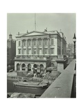 Barges and Goods in Front of Fishmongers Hall, Seen from London Bridge, 1912 Photographic Print