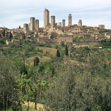 The Medieval Towers of San Gimignano in Tuscany, Italy, 13th Century Photographic Print by CM Dixon