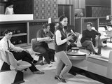 Group of Young People at Silver Blades Bowling Alley, Sheffield, South Yorkshire, 1965 Photographic Print by Michael Walters