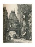 La Grosse Horloge, Rouen, C19th Century. (1925) Giclee Print by William Renison