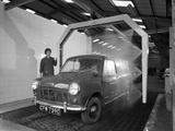 Mini Van Being Washed in a Car Wash, Co-Op Garage, Scunthorpe, Lincolnshire, 1965 Photographic Print by Michael Walters