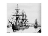 The Bacchante, Speed 16 Knots an Hour, 1884 Giclee Print