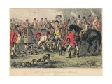 A Day with Puffingtons Hounds, 1865 Giclee Print by Bradbury, Evans and Co