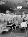 Hairdressing Department, Barnsley Co-Op, South Yorkshire, 1957 Photographic Print by Michael Walters