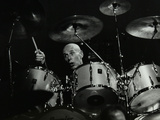 Drummer Eric Delaney Playing at the Forum Theatre, Hatfield, Hertfordshire, 6 May 1983 Reproduction photographique par Denis Williams