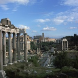 View of the Roman Forum, 5th Century Bc Photographic Print by CM Dixon