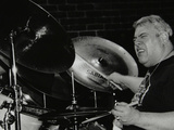 Drummer Martin Drew Playing at the Fairway, Welwyn Garden City, Hertfordshire, 15 February 1998 Photographic Print by Denis Williams
