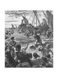 Landing of the Romans on the Coast of Kent, 43 Giclee Print