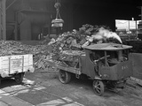 Loading a Steam Wagon with Scrap at a Steel Foundry, Sheffield, South Yorkshire, 1965 Photographic Print by Michael Walters