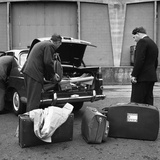 A 1961 Austin Westminster Being Loaded with Luggage on Amsterdam Docks, Netherlands 1963 Photographic Print by Michael Walters