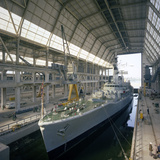 Hms Cleopatra at Devonport Frigate Complex, Plymouth, Devon, 1977 Photographic Print by Michael Walters