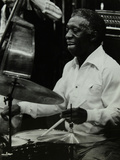 Drummer Art Blakey Playing at the Forum Theatre, Hatfield, Hertfordshire, 1978 Reproduction photographique par Denis Williams
