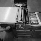 A Proofing Press with Plates at the White Rose Press, Mexborough, South Yorkshire, 1968 Photographic Print by Michael Walters