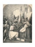 Hugh De Vermandois Receiving a Consecrated Banner from Pope Urban, 1869 Giclee Print