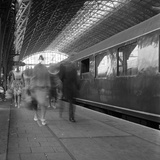 Travellers Walking Along a Platform at Centraal Station, Amsterdam, Netherlands, 1963 Photographic Print by Michael Walters