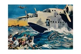 Two Short Sunderlands Rescuing Crew, 1940 Giclee Print