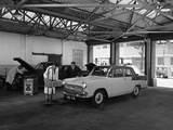 Scene in Globe and Simpsons Auto Electrical Workshop, Nottingham, Nottinghamshire, 1961 Photographic Print by Michael Walters