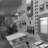 Oxygen Control Panel at the Park Gate Iron and Steel Co, Rotherham, South Yorkshire, 1964 Photographic Print by Michael Walters