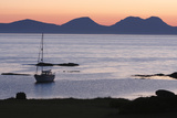 Sunset over Jura Seen from Kintyre, Argyll and Bute, Scotland Photographic Print by Peter Thompson