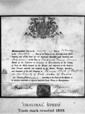 Trademark Certificate, 1849 (1963) Photographic Print by Michael Walters