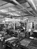 A Print Room in Operation, Mexborough, South Yorkshire, 1959 Photographic Print by Michael Walters