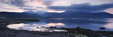 View across Brodick Bay to Beinn Tarsuinn and Goatfell at Sunset, Arran, North Ayrshire, Scotland Giclee Print by Peter Thompson