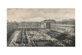 View of the Palais-Royal in 1834, 1915 Giclee Print by Albert Delton