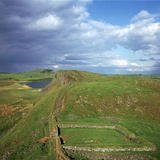 Hadrians Wall, Looking East to Milecastle, 2nd Century Photographic Print by CM Dixon