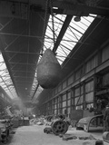 Edgar Allen Steel Foundry, Meadowhall, Sheffield, South Yorkshire, 1962 Fotografisk tryk af Michael Walters
