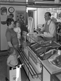 The New Metric System of Buying Food, Stocksbridge, Near Sheffield, South Yorkshire, 1966 Photographic Print by Michael Walters