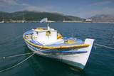 Boat in the Harbour of Sami, Kefalonia, Greece Photographic Print by Peter Thompson