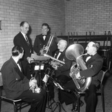 The Horden Colliery Band During Practice, 1963 Photographic Print by Michael Walters