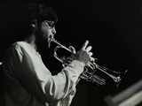 Guy Barker Playing the Trumpet at the Stables, Wavendon, Buckinghamshire Photographic Print by Denis Williams