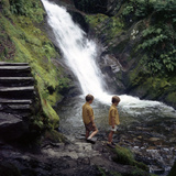 Two Children at a Pool, Dolgoch Falls, Tal-Y-Llyn Valley, Snowdonia National Park, Wales, 1969 Photographic Print by Michael Walters