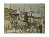 Horse-Drawn Omnibus and Passengers, London, 1900 Photographic Print