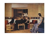 Living Room Designed by Paul Macalister, 1938 Giclee Print
