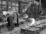 Pouring a Small Casting at Edgar Allens Steel Foundry, Sheffield, South Yorkshire, 1963 Photographic Print by Michael Walters