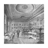 Dining Room of the Garrick Club, 1897 Giclee Print