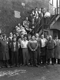 Group Portrait of Workers, Edgar Allens Steel Foundry, Sheffield, South Yorkshire, 1963 Photographic Print by Michael Walters
