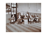 Geography Lesson at Elm Lodge Residential School for Elder Blind Girls, London, 1908 Photographic Print