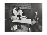 A Nurse Examines Girls Hair, Central Street Cleansing Station, London, 1914 Photographic Print