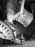 Pouring Iron into a Kaldo Unit, Park Gate Iron and Steel Co, Rotherham, South Yorkshire, 1964 Photographic Print by Michael Walters