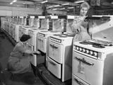 Cooker Production Line at the Gec Factory, Swinton, South Yorkshire, 1960 Photographic Print by Michael Walters
