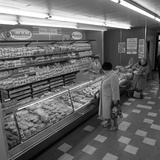 The Bakery Counter at the Asda Supermarket in Rotherham, South Yorkshire, 1969 Photographic Print by Michael Walters