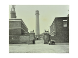 Shot Tower, Gates with Sphinxes, and Milk Cart, Belvedere Road, Lambeth, London, 1930 Photographic Print