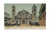 The Cathedral, Havana, Cuba, C1910 Giclee Print