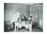 Spring Cleaning; Housewifery Lesson, Denmark Hill School, Dulwich, London, 1908 Photographic Print